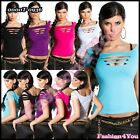 Sexy Ladies Tank Top Women's Casual Spring Summer Vest Top ONE SIZE 6,8,10,12 UK