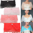 Wedding Bridal Organza Wrap Shawl Shrug Bolero Coat Party Cocktail Superb