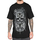 SULLEN BRINKSTER TATTOO SKULL MENS BLACK TEE SHIRT M-2XL ROCK BIKER ARTIST