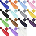 Plain Tie cufflink and hanky hankerchief set stylish fashion mens gift party