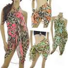 Leopard Print Neon Heart Pareo Plus size Sarong/Beach/Cover-Up Summer Holiday