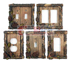 Pine Cone Switch Plate Covers Pine Faux Wood Cabin Lodge Decor Rocker Toggle