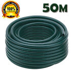 50 Metre Green Reinforced Tough Garden Hose Reel Pipe Water Outdoor Hosepipe New