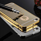 NEW Luxury Aluminum Mirror Metal Case Cover for iPhone 5 5S 6 6+ Plus 4.7 5.5 1X