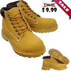Mens Hiking Camping Casual Trail Work Walking Riding Loafers Lace Up Ankle Boots