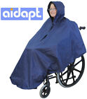 Aidapt Wheelchair Poncho Waterproof  Cover With Hood Disability Rain Mac / Coat