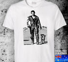 madmax chopper ned kelly SMALL to 3XL  southern cross white  tshirt read v8