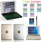 7 Colors Backlight Bluetooth Keyboard Folio Case Smart Cover For iPad Air AU