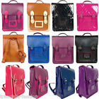 New Unisex Long Style Vintage Quilted Faux Leather Backpack/Rucksack School Bag