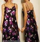 M&S Fabulous New Sophisticated Ladies Full Length Floral Satin Style Nightdress