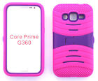 BUILT IN SCREEN PROTECTOR Case For Samsung Core Prime G360P / Prevail LTE G360