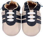 MINIFEET SOFT LEATHER BABY SHOES 0-6,6-12,12-18,18-24 Mth & 2-3 Yr BEIGE TRAINER