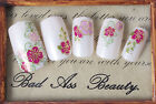 Colourful Flowers with Gold Silver Stroke 3D Nail Art Stickers UV Acrylic Decals