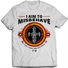 9248w I Aim To Misbehave T-Shirt Serenity Firefly Browncoat Blue Sun Corporation