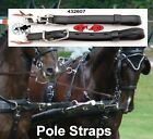 Carriage Driving Horse Team Pair pole straps Quick Release