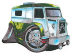 KOOLART CARTOON TEE SHIRT 985 CITROEN A VAN SILVER & GREEN