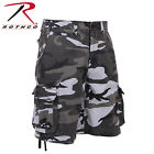 New Rothco 2525 Vintage City Camo Infantry Flat Front Extra Long Cargo Shorts