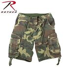 New Rothco 2540 Vintage Classic Camo Infantry Flat Front Extra Long Cargo Shorts