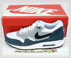 2014 Nike Air Max 1 Essential White Grey Black 537383-117 US 9~11 Casual NSW 90