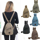Canvas Convertible Mini Small Sling Backpack Rucksack Chest Pack Purse Bag Cute