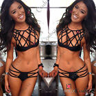 Womens Sexy Cut Out High Waisted Top and Bottoms Ladies Swimsuit Swimwear Bikini