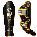 VELO Shin Guard Pads MMA Leg Foot Guards Muay Thai Kick Boxing MMA Training
