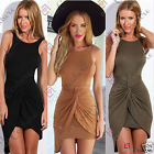 Womens Summer Backless Bodycon Party Beach Wrap Ladies Long Top Tunic Vest Dress