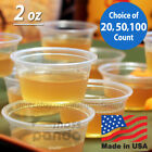 2oz Large Jello Jelly Shot Souffle Portion Cups with Lids Option, Clear Plastic фото