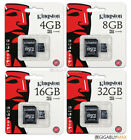 Kingston 4GB 8GB 16GB 32GB Class 4 micro SD SDHC Memory Flash Card Wholesale Lot