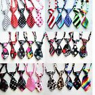 Wholesale Lot Floral Polyester Pet Dog Necktie Adjustable Bow Tie Summer Out