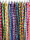 Braided cord plait wristband bracelet festival surf Fair Trade - choose colour