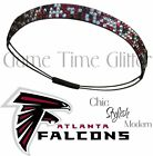 Atlanta Falcons Team Color Womens Rhinestone Bling Headband Wear w/ Jersey NWT