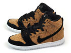 Nike Dunk High Premium SB QS Cork Skateboarding Black/Hazelnut-White 313171-026
