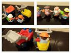 Fisher Price Little People   2 Construction Vehicles 4 Figures