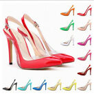 Fashion Womens High Heel Slingback Pointed Toe Pumps Party Formal Shoes Sz