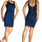 $189 Seven 7 For All Mankind Dark Stretch Denim Zipper Back Dress S Small