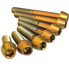 M6 Titanium bolts Tapered  Gold colour Incredible Quality Lifetime warranty