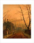 Grimshaw - Hampstead, Autumn Gold - fine art giclee print poster - various sizes