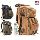 Original Kaukko Vintage Canvas Travel Backpack Satchel Carry Bag Hiking Camping