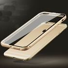 Ultra-Thin Aluminum Metal Bumper Clear Back Case Cover for iPhone 6 6+ Plus 5 5S