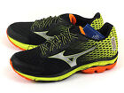 Mizuno Wave Rider 18 Lightweight Breathable Running Black/Silver/Lime J1GR150312