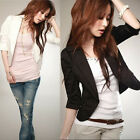 Office Lady White Black Fashion Hot Slim Ladies Womens Suit Coat Blazer Jacket