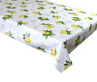 Lemons With White Flower on off White, Textile Backed Wipe Clean Tablecloth (50)