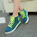 Womens Fashion Canvas High Top Platform Sport Shoes Casual Lace Up Sneakers