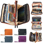 Double Decker Carrying Case Bag for iPad Air 2 iPad4 3 2 Tablet iPhone USB Cable