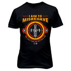9248 I AIM TO MISBEHAVE T-SHIRT FIREFLY SERENITY browncoat blue sun space ship