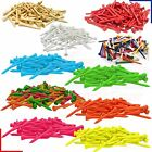54mm Wooden Golf Tees - Various Colours- 10/25/50/100/250/500 Qtys *FREE UK P&P*