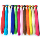 50/100s Multicolor Grizzly Feather I-tip Hair Extensions Rooster + Beads Free