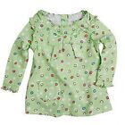 BNWT GIRLS NOVA LIGHT GREEN SPOTTED TUNIC TOP WITH BOW DETAIL AGE RANGE 6 - 18 M