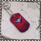 HIGH QUALITY CHILDRENS OR ADULTS AFL ESSENDON BOMBERS FOOTBALL DOG TAG
